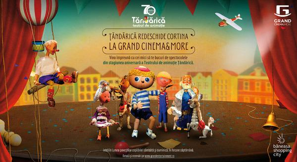 In septembrie, spectacolele Teatrului de Animatie Tandarica redeschid cortina la Grand Cinema and More