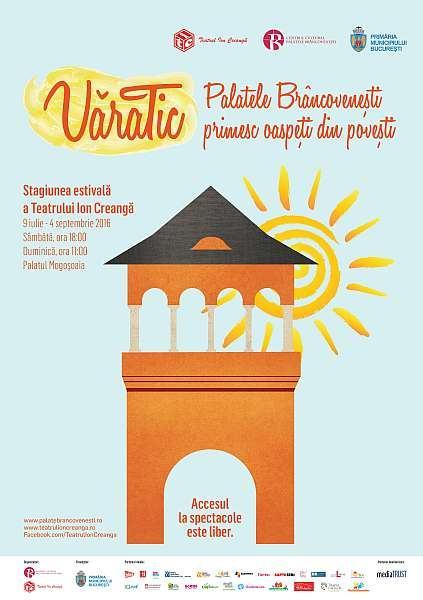 Teatrul Ion Creanga si Centrul Cultural Palatele Brancovenesti lanseaza stagiunea estivala VaraTic