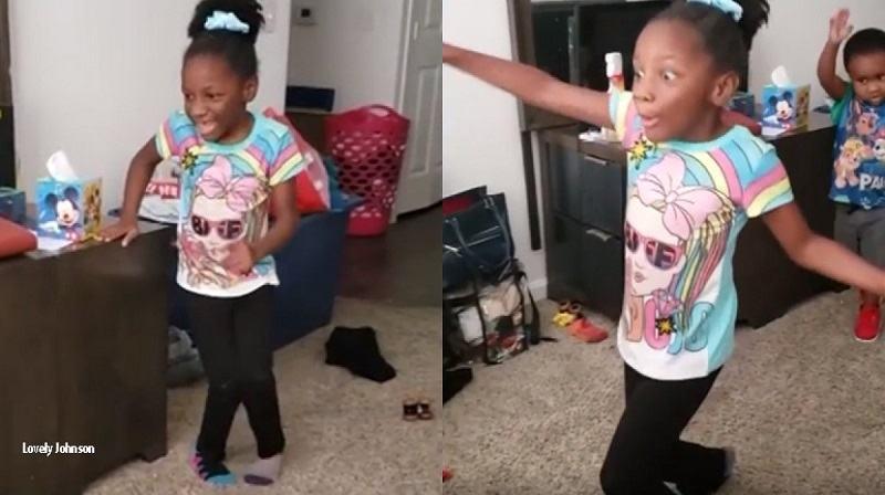Video. REACTIA impresionanta a unei fetite de 6 ani care a reusit sa mearga singura pentru prima data