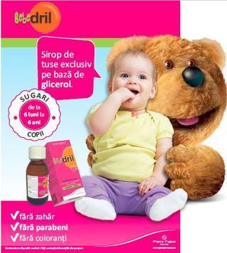 Bebedril: sirop pentru tuse uscata - exclusiv pe baza de glicerol
