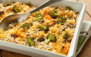 Broccoli cu orez si cascaval