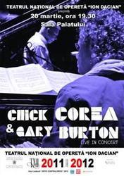 Legendele jazz-ului, Chick Corea si Gary Burton, in concert la Bucuresti