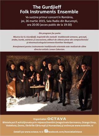 Sensiblu este alaturi de The Gurdjieff Folk Instruments ensemble la primul lor concert in Romania