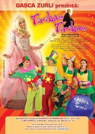 Tiribam - Tiribum - un spectacol pentru copii si parinti