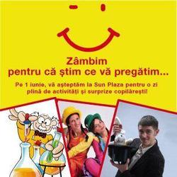 De 1 iunie, Sun Plaza este destinatia copiilor isteti!