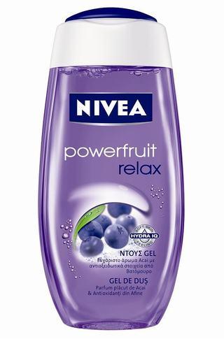 Noul gel de dus NIVEA Powerfruit Relax si balsamul de buze NIVEA Lip Care Vitamin Shake Acai & Wild Apple