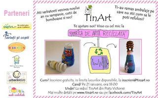 Atelier de arta reciclata, gratuit pentru copiii cu varsta intre 6-10 ani