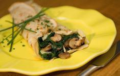 Clatite cu spanac si ciuperci