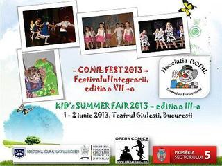 CONIL FEST - Festivalul Integrarii, editia a VII-a si Kid's Summer Fair 2013, editia a III-a