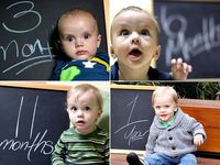 Calendarul cresterii copilului in poze haioase si inspirate