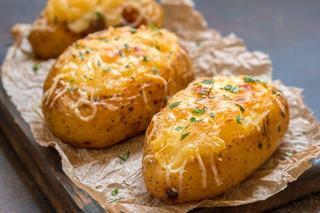 Cartofi copti cu crema de branza