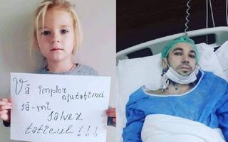 """Strigatul de ajutor al unei fetite care incearca sa-si ajute tatal bolnav: """"Nu vreau sa imi pierd taticul!"""""""