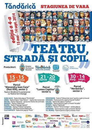 Incepe Festivalul de Vara Teatru, Strada si Copil, 30 mai - 6 iunie 2014