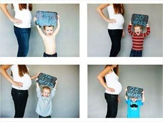5 idei pentru poze pe parcursul sarcinii