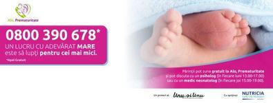 Alo, Prematuritate - linia telefonica gratuita adresata familiilor cu copii prematuri