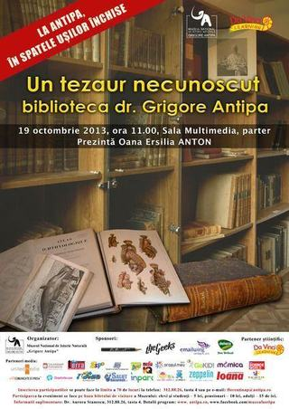 Conferinta: Un tezaur necunoscut - biblioteca dr. Grigore Antipa