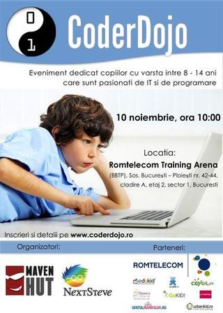 Coder Dojo, editia a II-a, locul de intalnire al copiilor pasionati de IT si programare