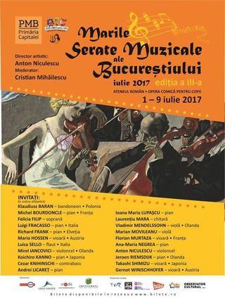 Marile Serate Muzicale ale Bucurestiului, festivalul international al muzicii de camera