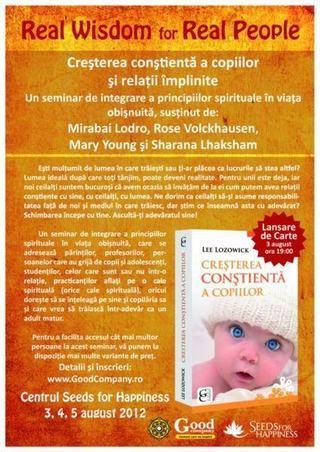 "Seminar ""Cresterea Constienta a Copiilor si Relatii implinite"""