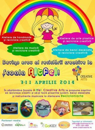 Copiii devin eroi ai reciclarii creative la Scoala Altfel