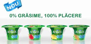 Noul iaurt Activia Light, cu 0% grasime si 100% placere