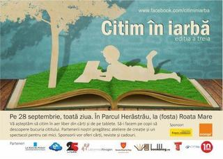 Citim in iarba, in Herastrau, pe 28 septembrie