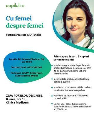 Eveniment. Ziua portilor deschise la Clinica Medicum: Cu femei, despre femei