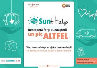 Curs gratuit de prim ajutor pentru micuti, la Sun Plaza