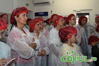 In vizita la fabrica Danone din Bucuresti