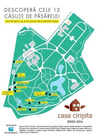 Casele Ciripite ajung acasa, in Gradina Botanica Dimitrie Brandza a Universitatii Bucuresti