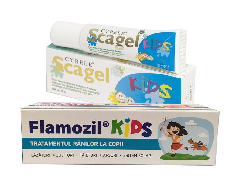 Juliturile si cicatricile la copii – Flamozil Kids si Scagel Kids – o combinatie reusita