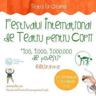 Program Festivalul International de Teatru pentru Copii 100, 1.000, 1.000.000 de povesti