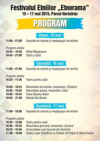 Diversitate culturala in Parcul Herastrau  (15-17 mai)