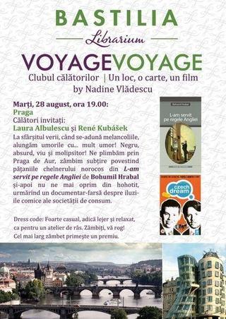 Voyage Voyage Clubul Calatorilor - Un loc, o carte, un film, by Nadine Vladescu