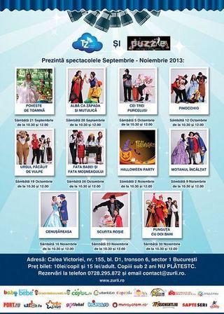 Program Teatrul Zurli 2013
