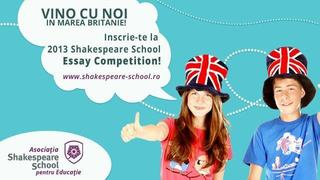 Concursul national de creatie in limba engleza, Shakespeare School Essay Competition