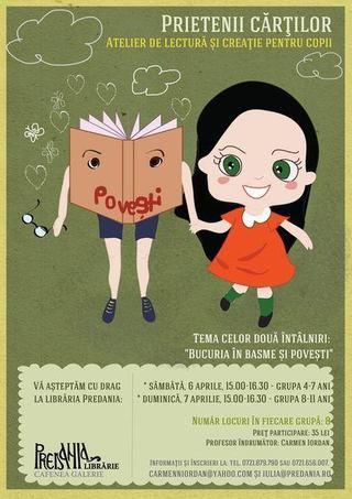 Prietenii cartilor - Atelier de lectura si creatie pentru copii