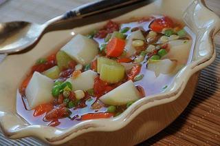 Supa de legume, de post