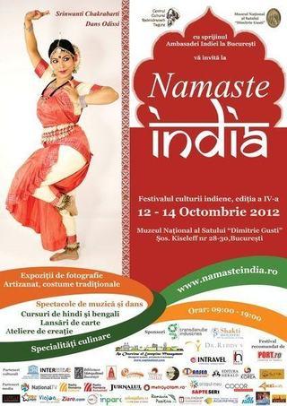 Festivalul Namaste India, editia a IV-a, 12 - 14 octombrie 2012, la Muzeul Satului din Bucuresti