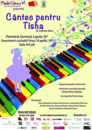 Musicalul Cantec pentru Tisha, noua premiera MiniArtShow by Ioana Ginghina!