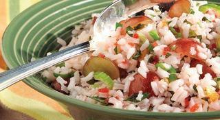 Salata de orez cu menta, de post