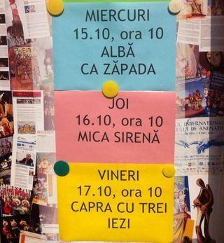 Program Spectacole, Teatrul Tandarica, octombrie 2014