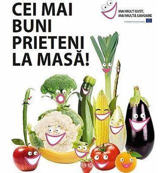 20 de organizatii din Romania implicate intr-un nou proiect european de incurajare a consumului de fructe si legume