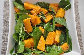 Salata de dovleac cu spanac