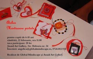 Atelier Martisoare pictate la Anaid Art Gallery