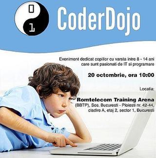 Copiii pasionati de IT si de programare se intalnesc la Coder Dojo!