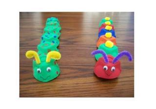 7 crafturi pentru copii din cartoanele de oua