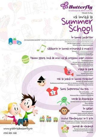 Butterfly va invita la Summer School!