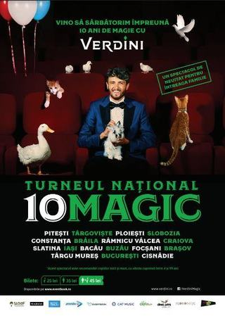 Verdini te invita sa vezi live magie adevarata in Turneul National 10magic