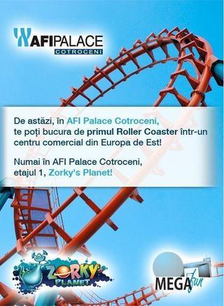 AFI Palace Cotroceni devine gazda primului roller coaster din Europa de Est